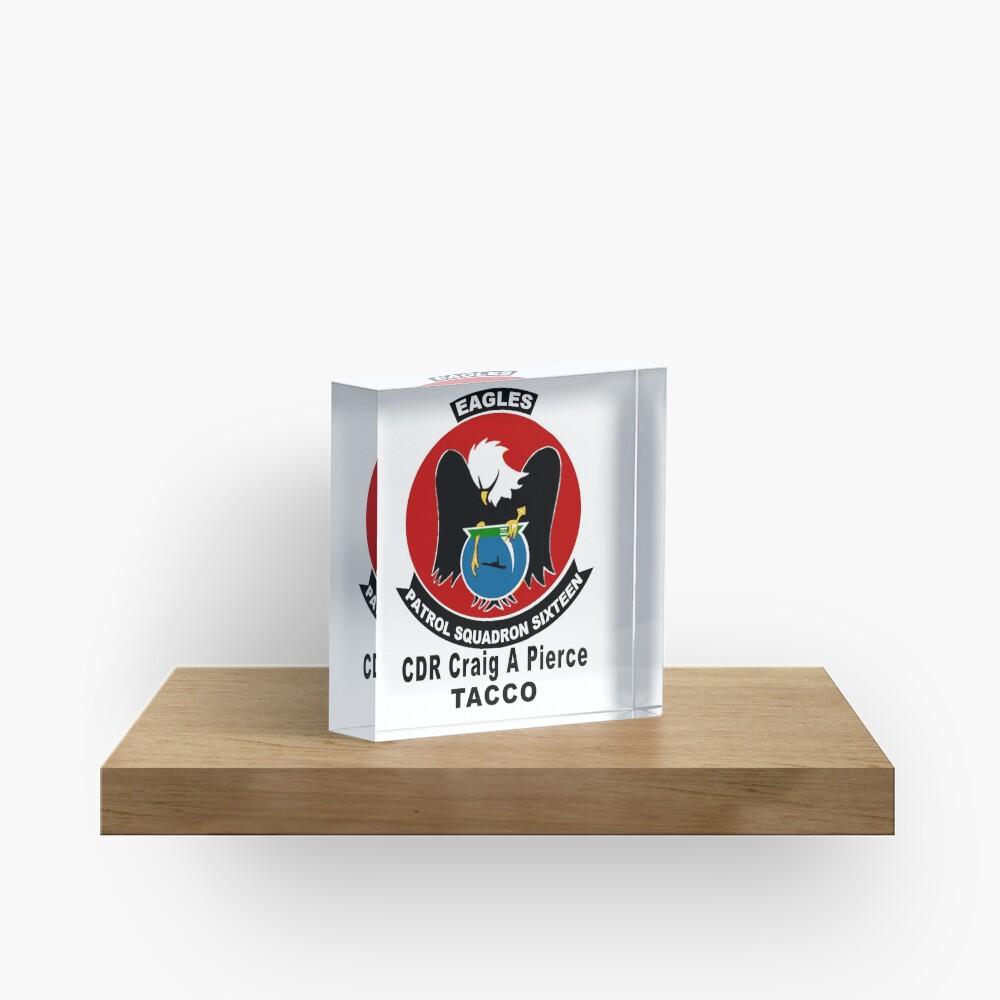 Personalized VP-16 Crest Acrylic Block