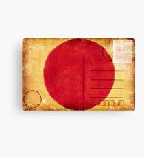 japan flag postcard Canvas Print
