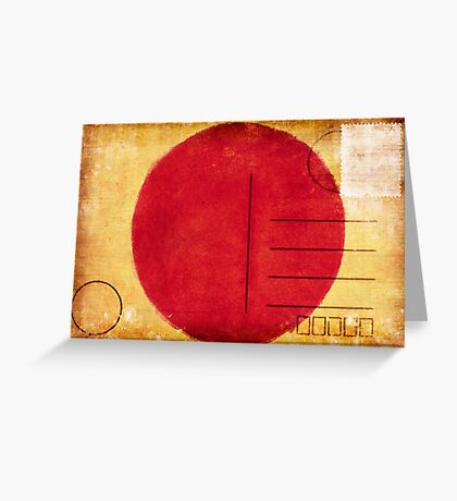 japan flag postcard Greeting Card