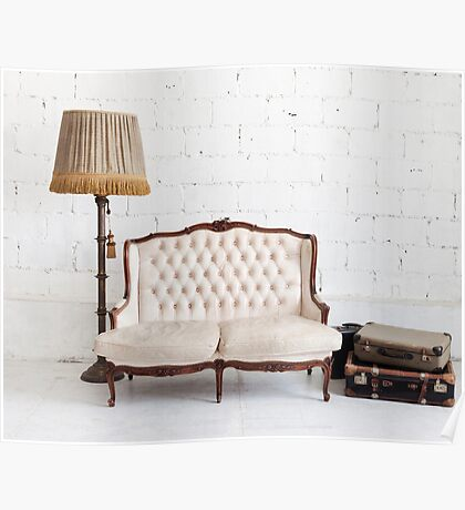 retro sofa Poster
