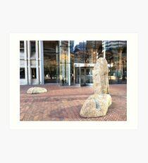 Downtown scene, Seattle, Washington Art Print