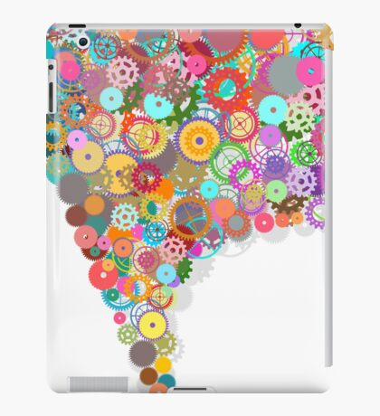 speech bubble design by gears and cogs iPad Case/Skin