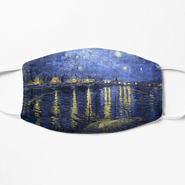 Van Gogh - Starry Night Over the Rhone  Flat Mask