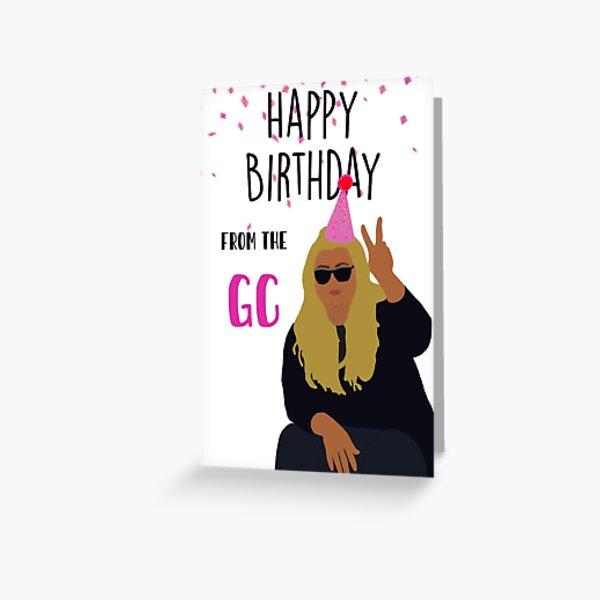 Gemma Collins birthday card Greeting Card