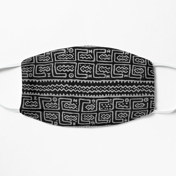 Black and white Mudcloth Mask