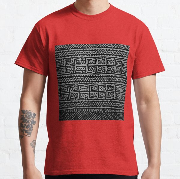 Black and white Mudcloth Classic T-Shirt