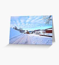 Snowy Swiss countryside near Lucerne, Switzerland. Greeting Card