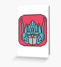 Pixel Optimus [IDW] Greeting Card