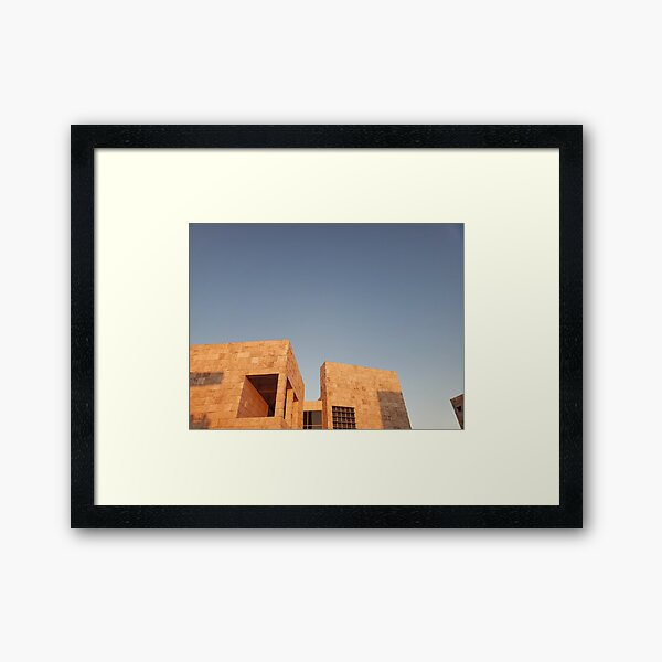 sunset at the getty Framed Art Print