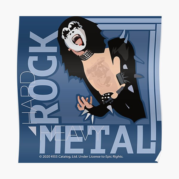 KISS - Wicked Cool Hard Rock - Heavy Metal - The Demon Design Poster