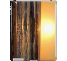 sunset on beach iPad Case/Skin