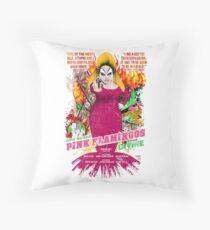 John Waters Pink Flamingos Divine Cult Movie  Throw Pillow