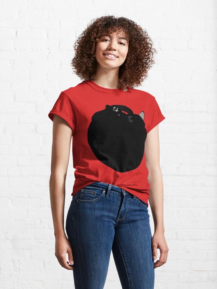 Alternate view of NDVH Black Cat Circle Classic T-Shirt