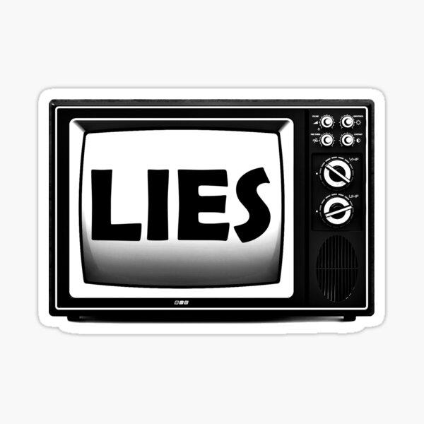 TV Lies - fake news, the media is lying Sticker