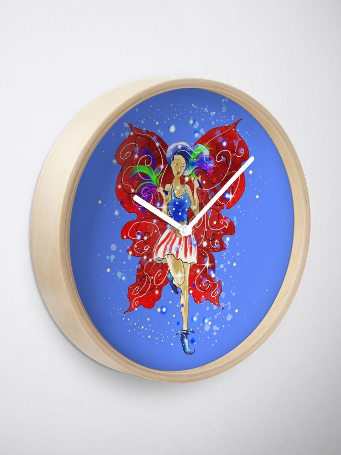 Alternate view of Patriotic Patsy The 4th Of July Fairy™ Clock