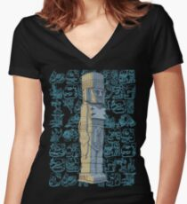 Toltec Warrior Women's Fitted V-Neck T-Shirt