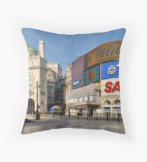 Exodus: Piccadilly Circus, London Throw Pillow