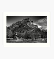 Edinburgh Castle Mono Art Print