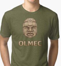 Olmec Head Tri-blend T-Shirt