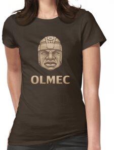 Olmec Head Womens Fitted T-Shirt