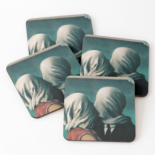 Rene Magritte Los Amantes Posavasos (lote de 4)