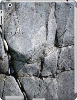 Grey Beach Rocks by eyeshoot