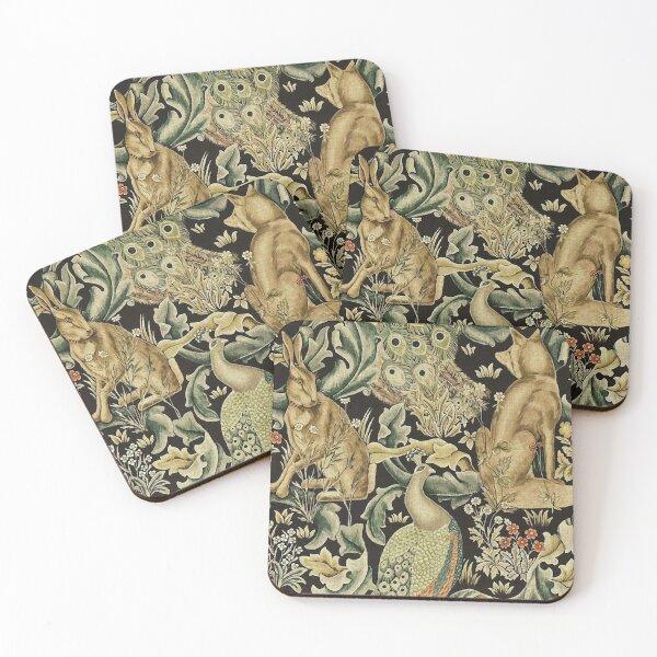 William Morris forest fabric Coasters (Set of 4)