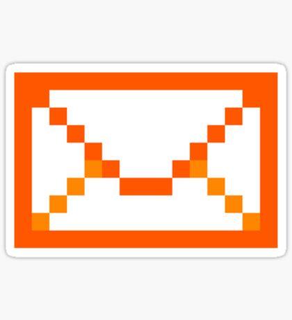 Orangered mail Sticker