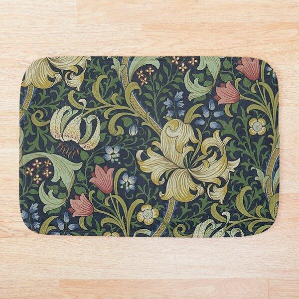William Morris Golden Lily pattern Bath Mat