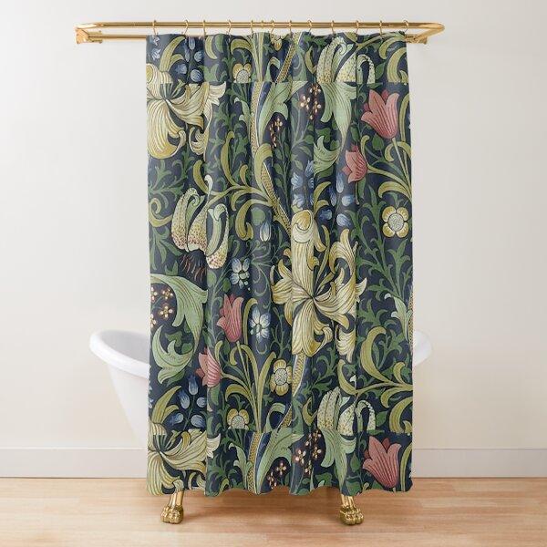 William Morris Golden Lily pattern Shower Curtain
