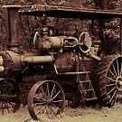 1923 Case Steam Tractor by Samantha Dean