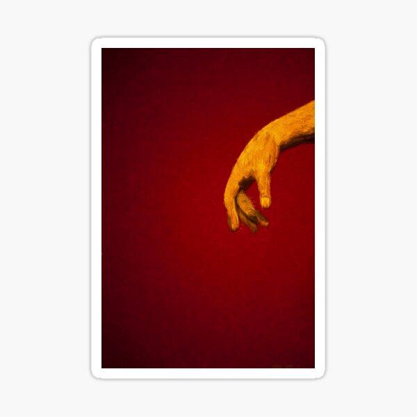 The Hand           (digital painting) Sticker