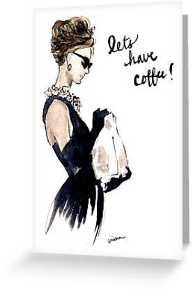 Audrey Hepburn Breakfast at Tiffany's Invitation by rishann