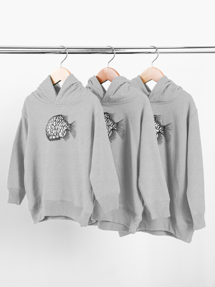 Alternate view of Bridget the Pineapple Fish Toddler Pullover Hoodie