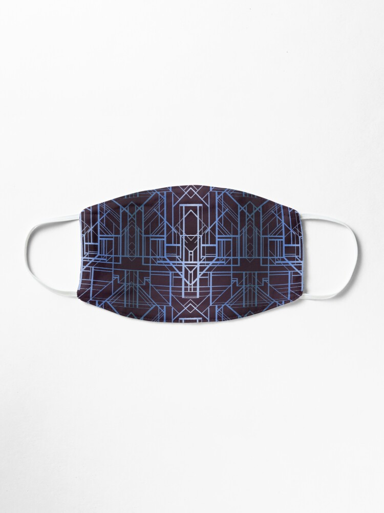 Alternate view of Geometric Deco in Blue Mask