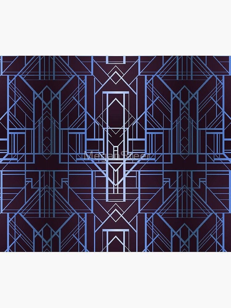 Geometric Deco in Blue by MeganSteer