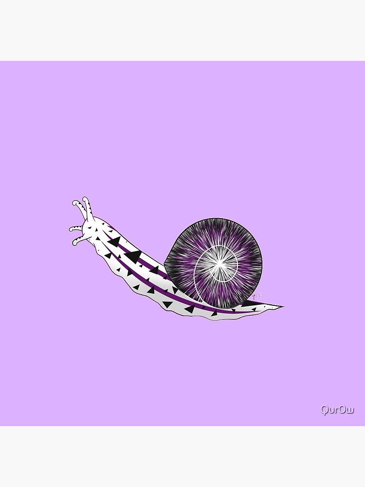 Demisexual pride flag snail by Qur0w