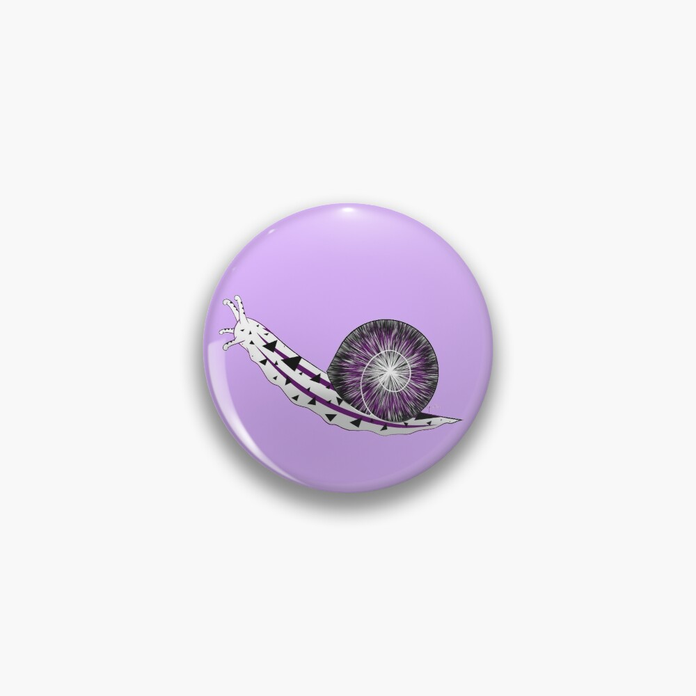 Demisexual pride flag snail Pin