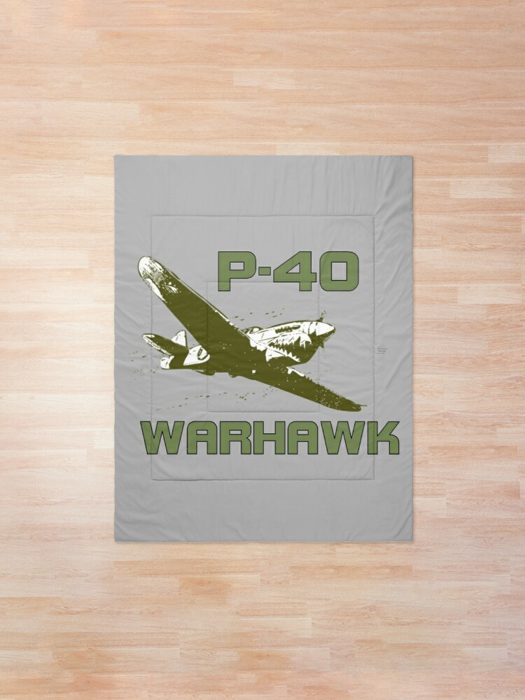 Alternate view of P-40 Warhawk Comforter