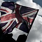 English Flag - London by Aaron Holloway