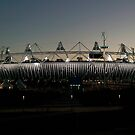 Olympic Stadium Afterglow by John Gaffen