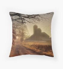 The Road to Amish Country Throw Pillow