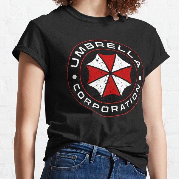 seguramente recordarás a Umbrella Corporation de donde vino el peligroso virus que infectó a la humanidad. Disfruta de este diseño en camisetas Camiseta clásica