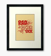 Lámina enmarcada Rad al poder de los enfermos-rojo