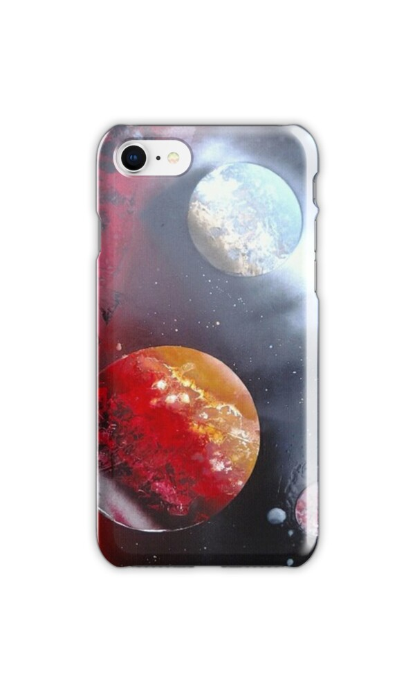 Spray paint space art iphone cases skins by expresions for Spray paint iphone case
