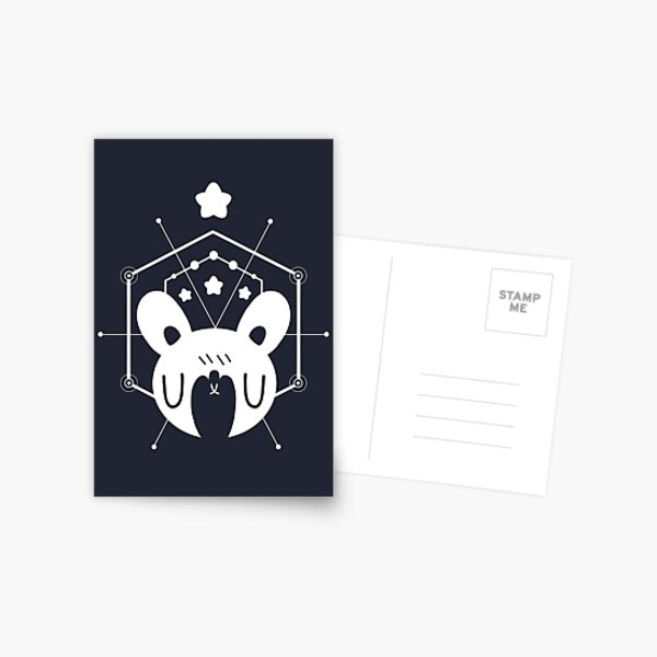 Star Bunny Geometric Design Postcard
