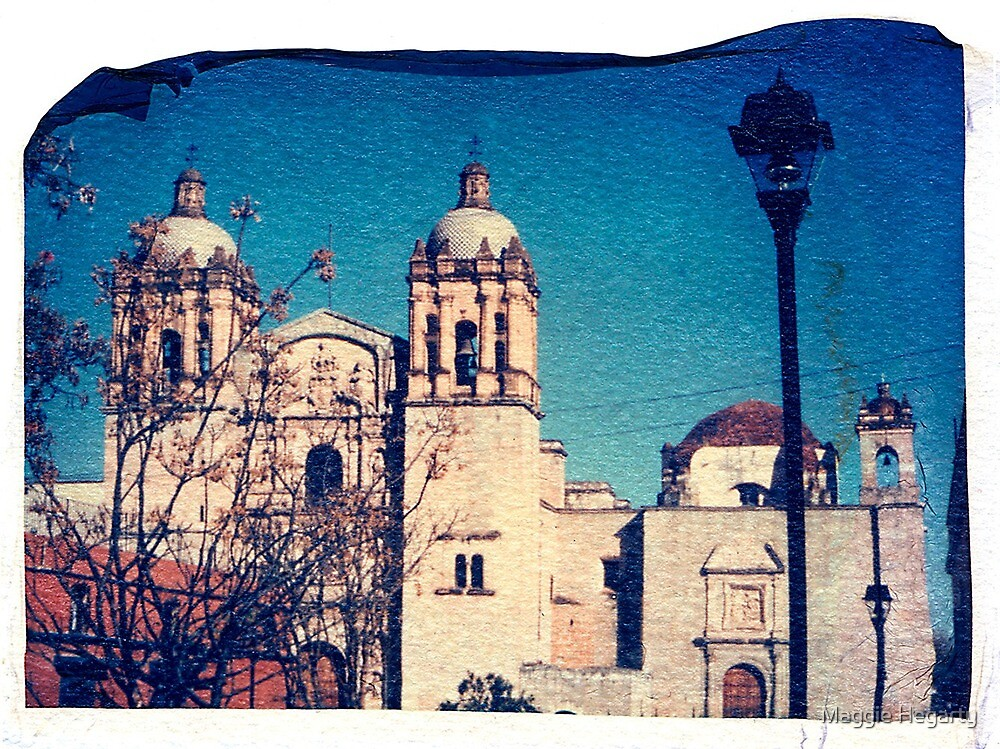 Catholic Cathedral, Oaxaca Mexico by Maggie Hegarty