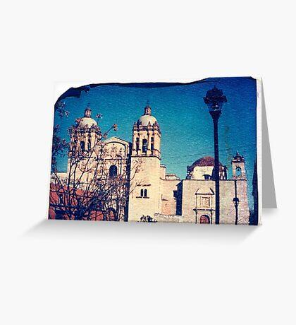 Catholic Cathedral, Oaxaca Mexico Greeting Card