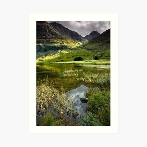Light & Shadow in the Valley of Glencoe Art Print