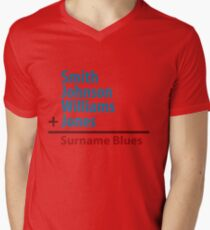 Surname Blues - Smith, Johnson, Williams & Jones Men's V-Neck T-Shirt